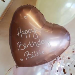 Glitter personalised foil balloon