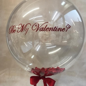 Valentine's Day bubble balloon