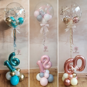 Number balloon display