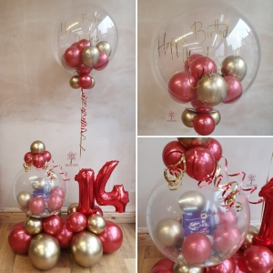 deco gumball bubble balloon with gift balloon
