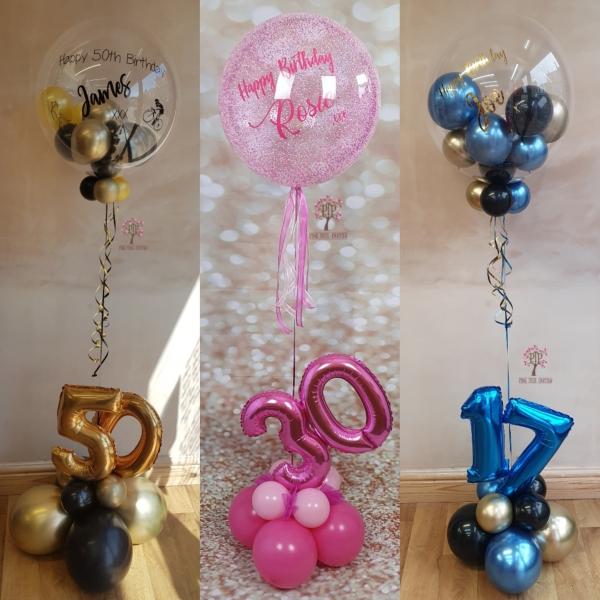 Birthday gumball balloon age display